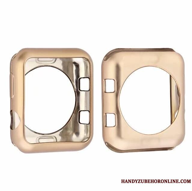 Etui Apple Watch Series 3 Beskyttelse Guld Pu, Cover Apple Watch Series 3 Blød