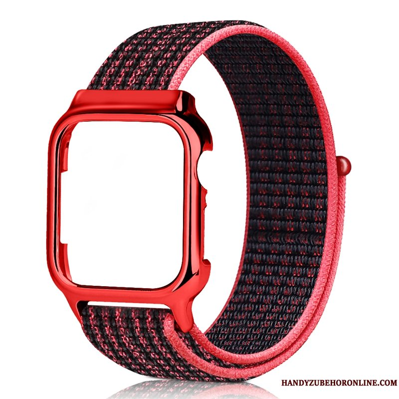 Etui Apple Watch Series 3 Kreativ Rød Sort, Cover Apple Watch Series 3 Nylon Trend