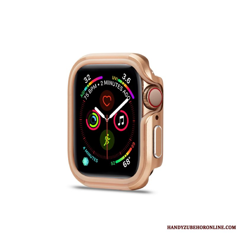 Etui Apple Watch Series 3 Metal Ramme Rosa Guld, Cover Apple Watch Series 3 Beskyttelse Pu Anti-fald