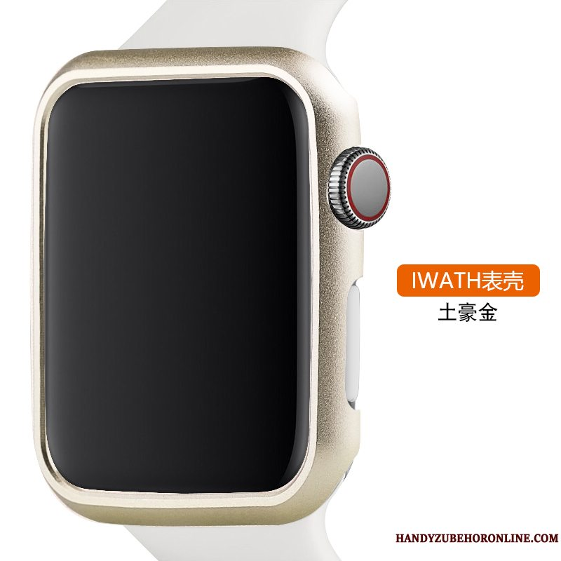 Etui Apple Watch Series 3 Metal Trend Legering, Cover Apple Watch Series 3 Beskyttelse Guld