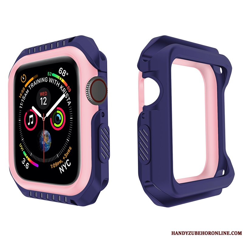 Etui Apple Watch Series 3 Silikone Anti-fald Lilla, Cover Apple Watch Series 3 Blød