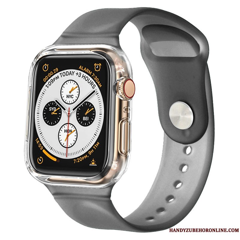 Etui Apple Watch Series 3 Silikone Sort Bicolored, Cover Apple Watch Series 3 Beskyttelse Sport