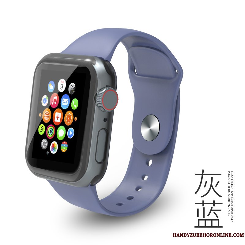 Etui Apple Watch Series 5 Beskyttelse Blå Af Personlighed, Cover Apple Watch Series 5 Mode Sport Trend