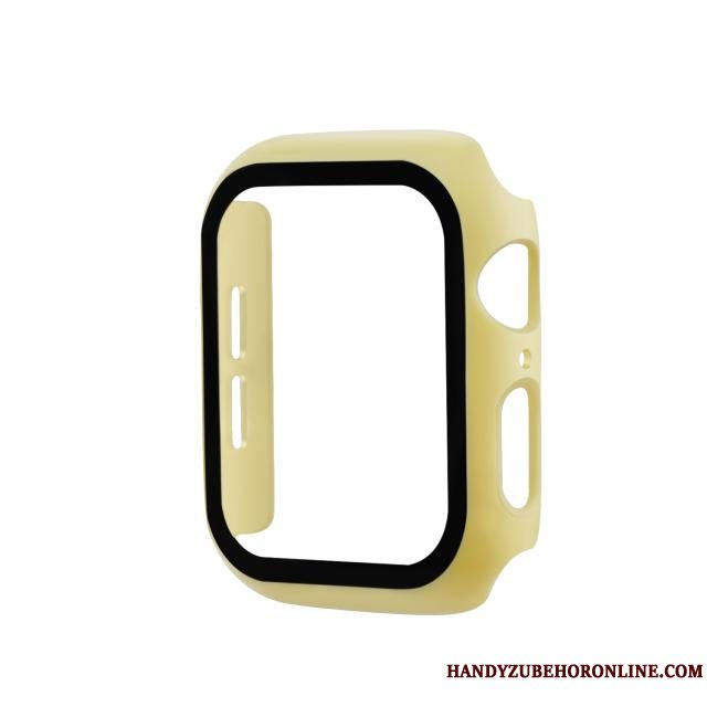 Etui Apple Watch Series 5 Beskyttelse Gul Skærmbeskyttelse, Cover Apple Watch Series 5 Ny Hærdning