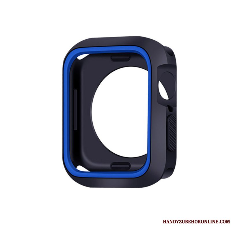 Etui Apple Watch Series 5 Blød Blå, Cover Apple Watch Series 5 Silikone