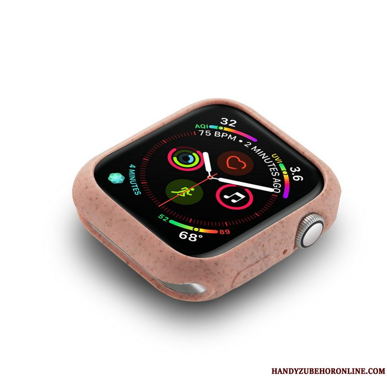Etui Apple Watch Series 5 Blød Trend Dragon, Cover Apple Watch Series 5 Beskyttelse Lyserød Nubuck