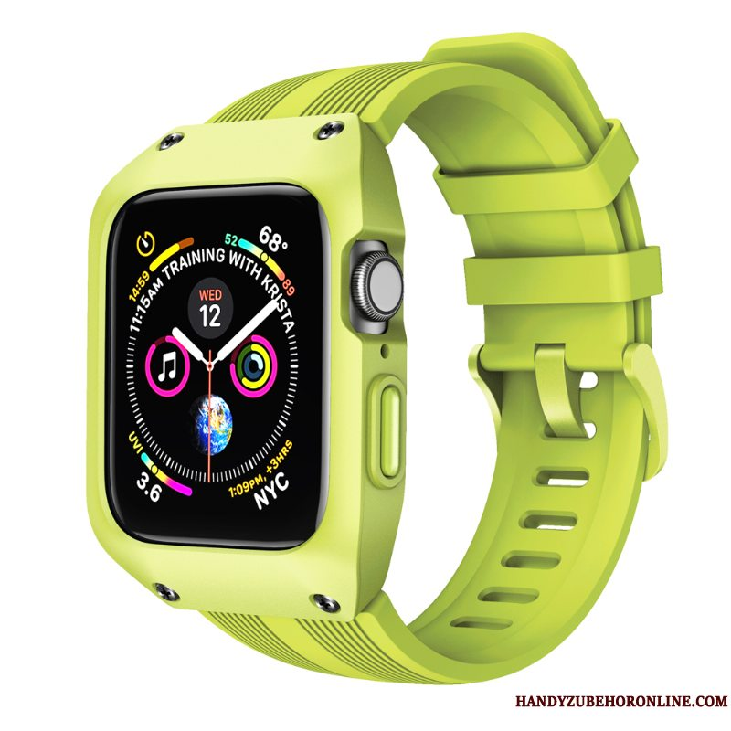 Etui Apple Watch Series 5 Kreativ Grøn Anti-fald, Cover Apple Watch Series 5 Beskyttelse Sport