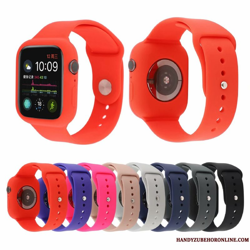 Etui Apple Watch Series 5 Mode Trend Rød, Cover Apple Watch Series 5 Beskyttelse Ny Sport