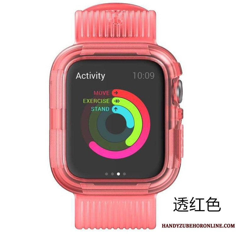 Etui Apple Watch Series 5 Silikone Armour Lyserød, Cover Apple Watch Series 5 Beskyttelse Sport Anti-fald
