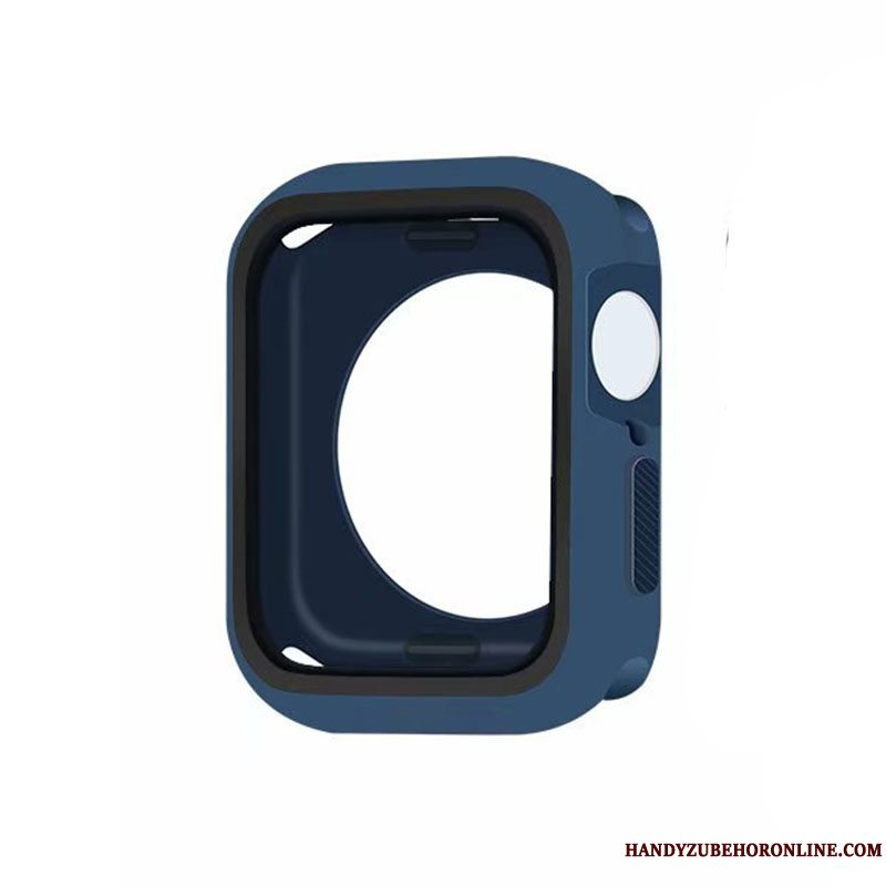 Etui Apple Watch Series 5 Silikone Blå Ramme, Cover Apple Watch Series 5 Tasker