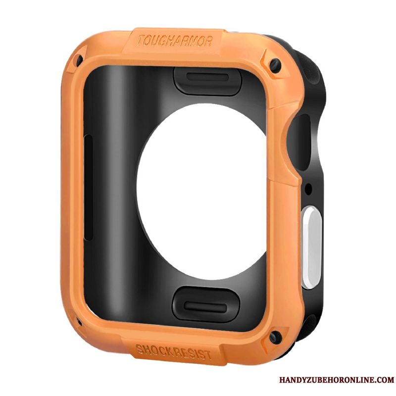 Etui Apple Watch Series 5 Silikone Orange Tilbehør, Cover Apple Watch Series 5 Beskyttelse Anti-fald Ramme