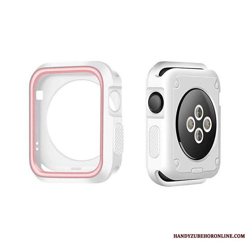 Etui Apple Watch Series 5 Silikone Ramme Tilbehør, Cover Apple Watch Series 5 Blød Hvid Anti-fald