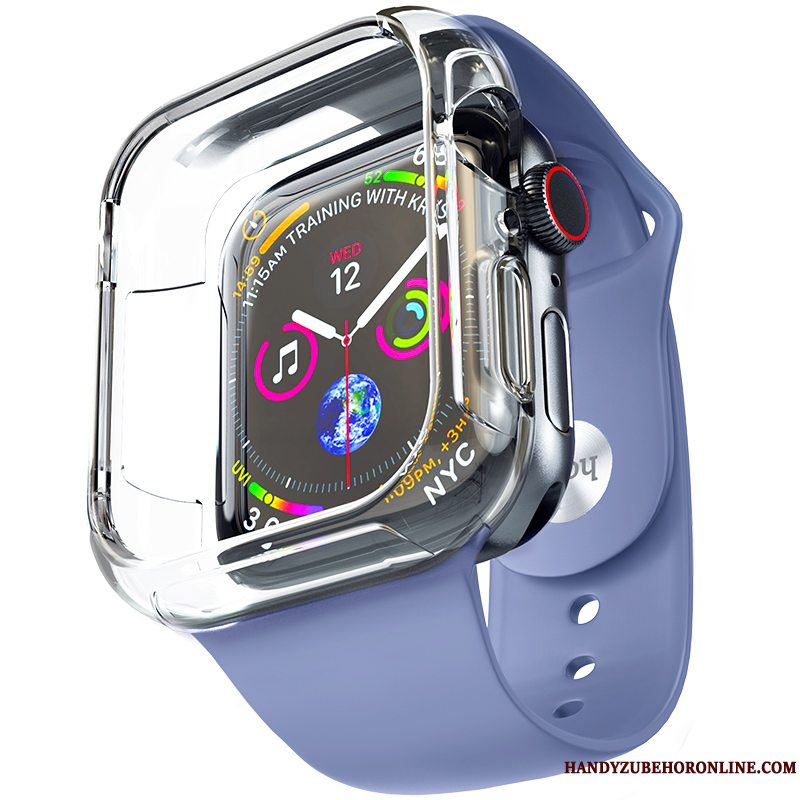 Etui Apple Watch Series 5 Tasker Belægning Blå, Cover Apple Watch Series 5 Blød Tilbehør Trend