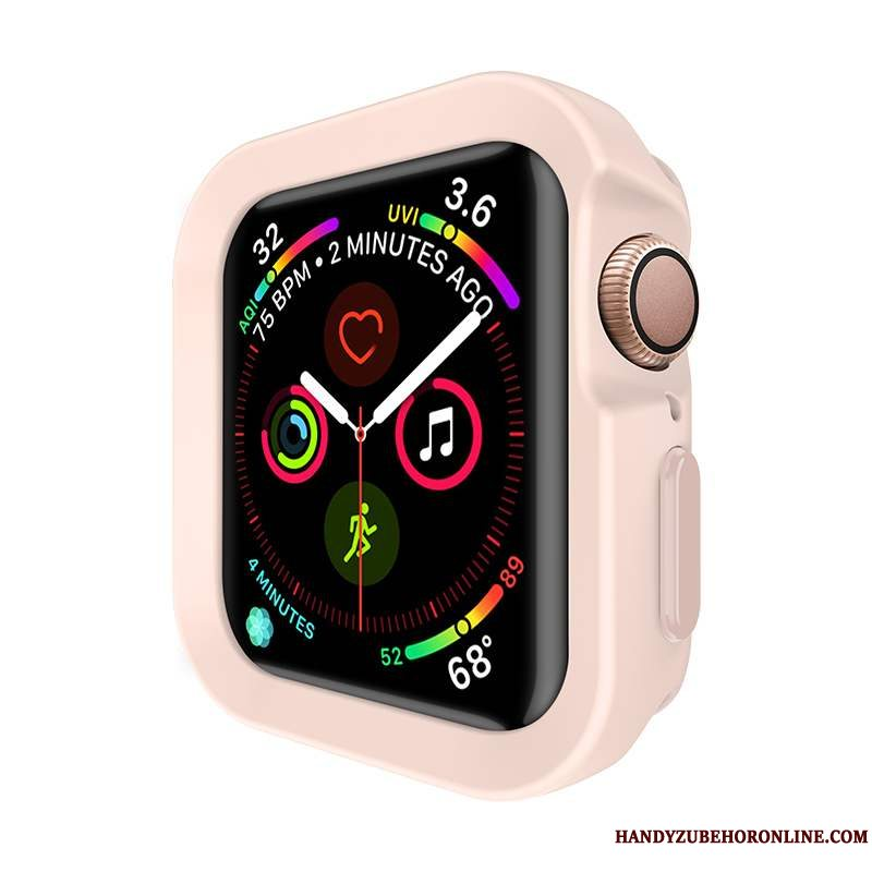 Etui Apple Watch Series 5 Tasker Let Tynd Ny, Cover Apple Watch Series 5 Beskyttelse Lyserød Net Red