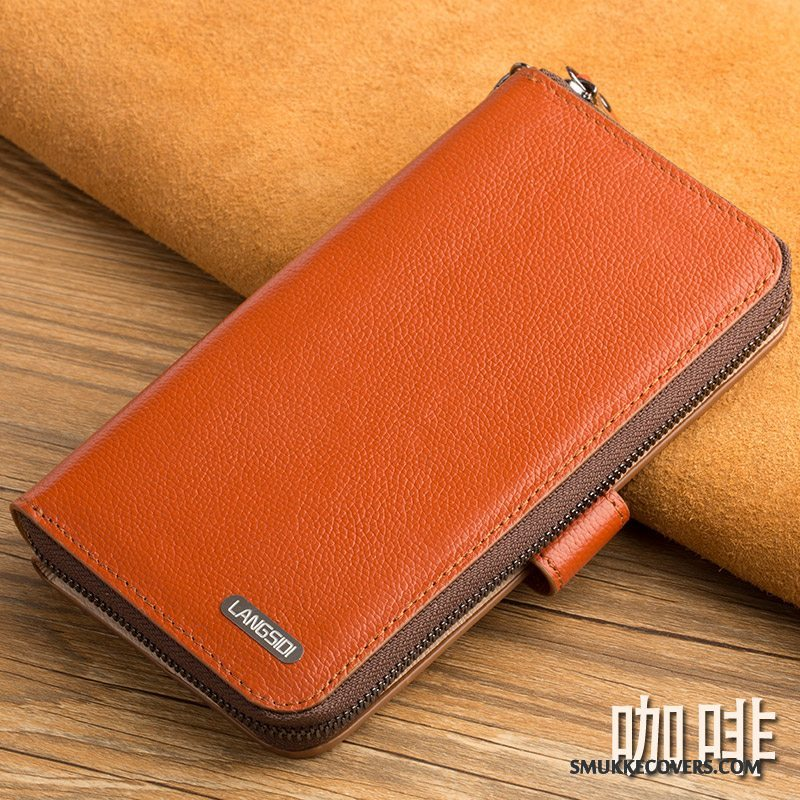 Etui Htc 10 Tegnebog Telefontrend, Cover Htc 10 Tasker Orange Tynd