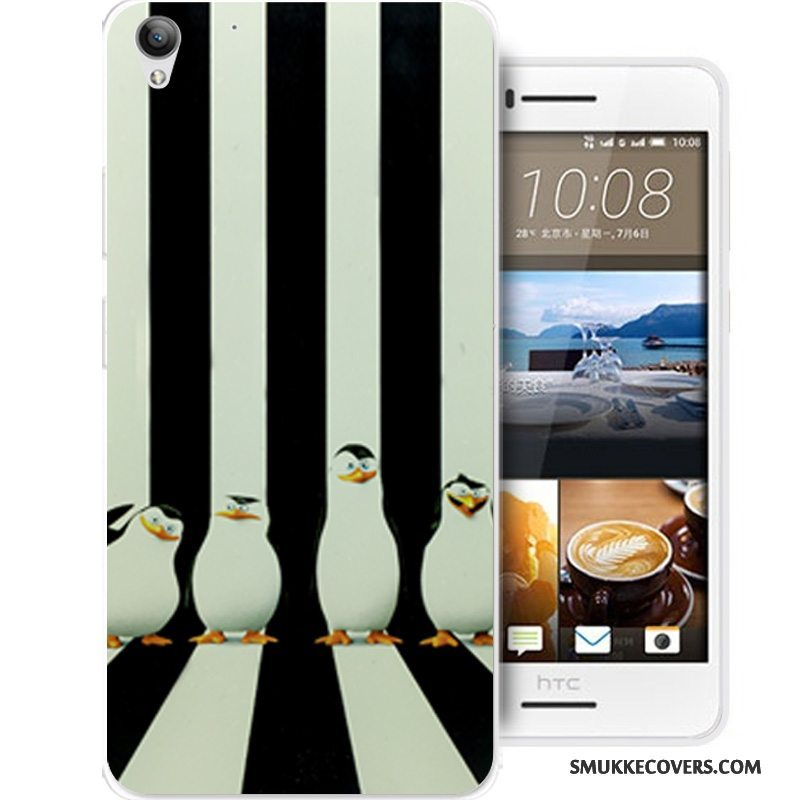 Etui Htc Desire 728 Cartoon Sort Anti-fald, Cover Htc Desire 728 Silikone Telefon