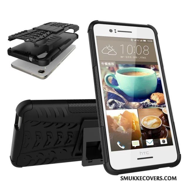 Etui Htc Desire 728 Support Sort Telefon, Cover Htc Desire 728 Beskyttelse Anti-fald