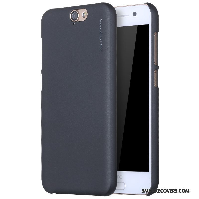 Etui Htc One A9 Beskyttelse Sort Telefon, Cover Htc One A9 Nubuck Tynd