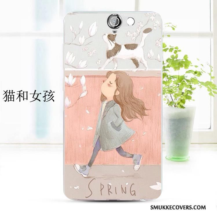 Etui Htc One A9 Blød Lyserød Anti-fald, Cover Htc One A9 Cartoon Telefon
