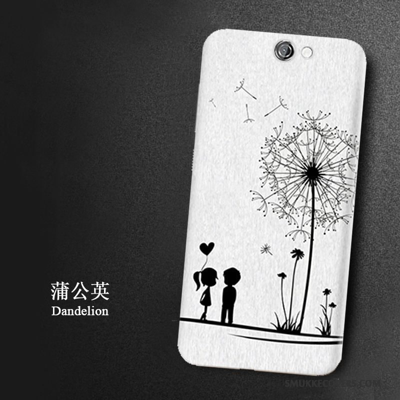 Etui Htc One A9 Cartoon Let Tynd Telefon, Cover Htc One A9 Beskyttelse Hvid