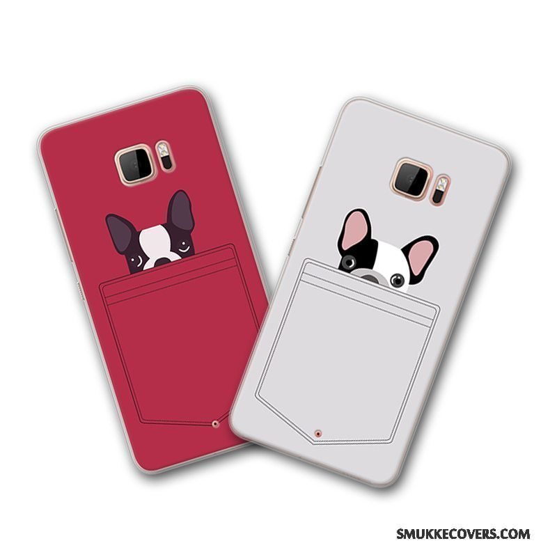 Etui Htc U Ultra Kreativ Grå Telefon, Cover Htc U Ultra Cartoon Rød Af Personlighed