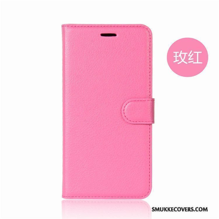 Etui Htc U Ultra Support Anti-fald Rød, Cover Htc U Ultra Læder Telefon