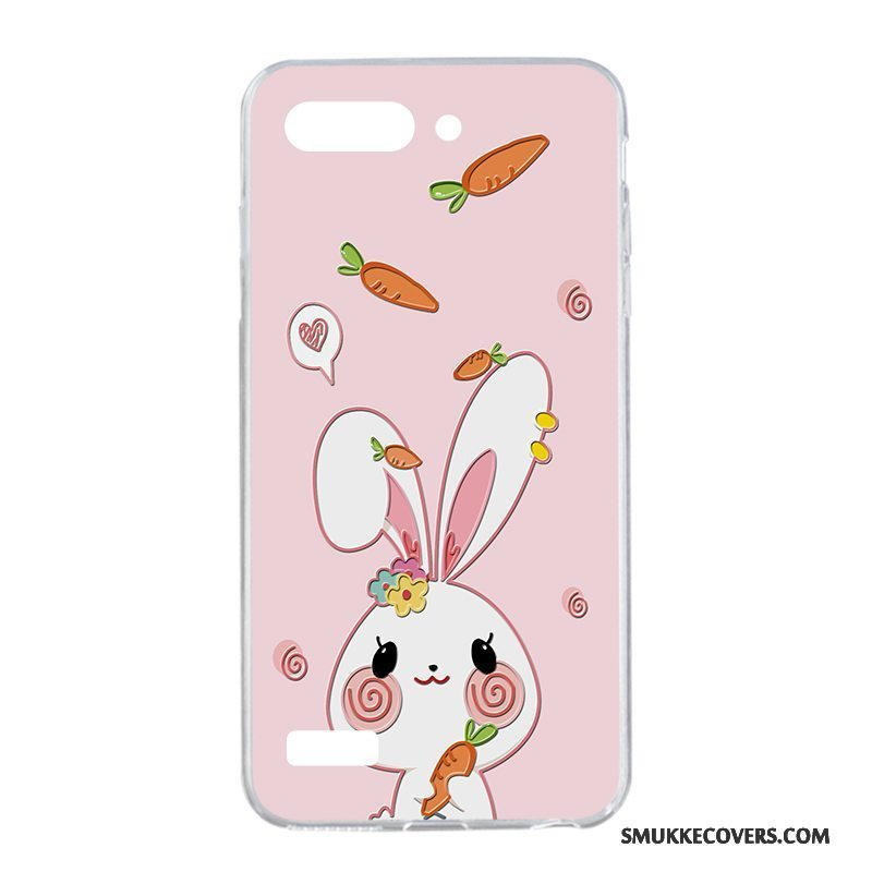 Etui Huawei Ascend G6 Cartoon Pulver Telefon, Cover Huawei Ascend G6 Beskyttelse Lyserød Smuk