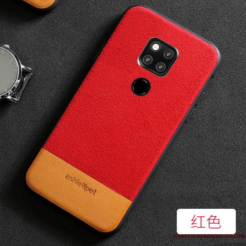 Etui Huawei Mate 20 Mode Telefonelegante, Cover Huawei Mate 20 Beskyttelse Simple Splejsning