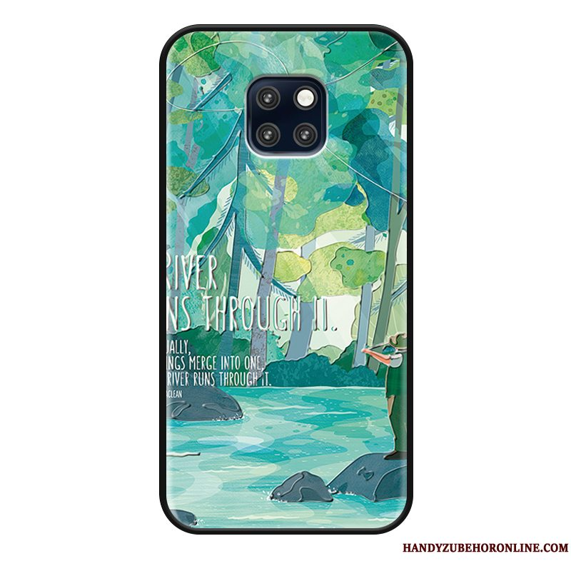 Etui Huawei Mate 20 Rs Beskyttelse Anti-fald Lille Sektion, Cover Huawei Mate 20 Rs Simple Blomster