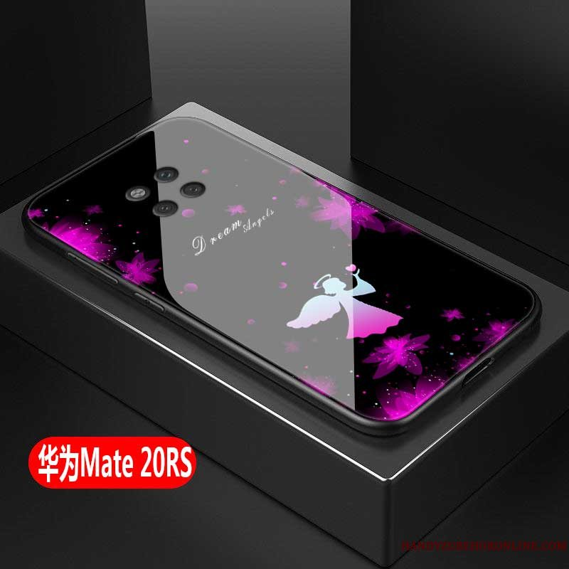 Etui Huawei Mate 20 Rs Beskyttelse Trend Lyserød, Cover Huawei Mate 20 Rs Tasker Anti-fald Af Personlighed