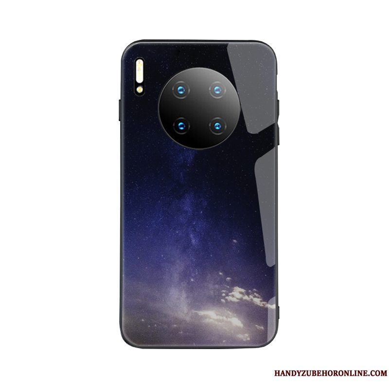Etui Huawei Mate 30 Pro Kreativ Simple Af Personlighed, Cover Huawei Mate 30 Pro Hærdning Lyse