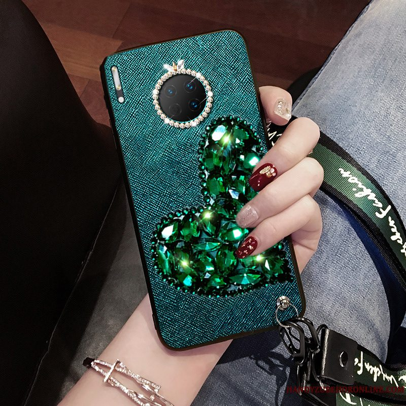 Etui Huawei Mate 30 Pro Mode Telefontrendy, Cover Huawei Mate 30 Pro Kreativ Af Personlighed Grøn