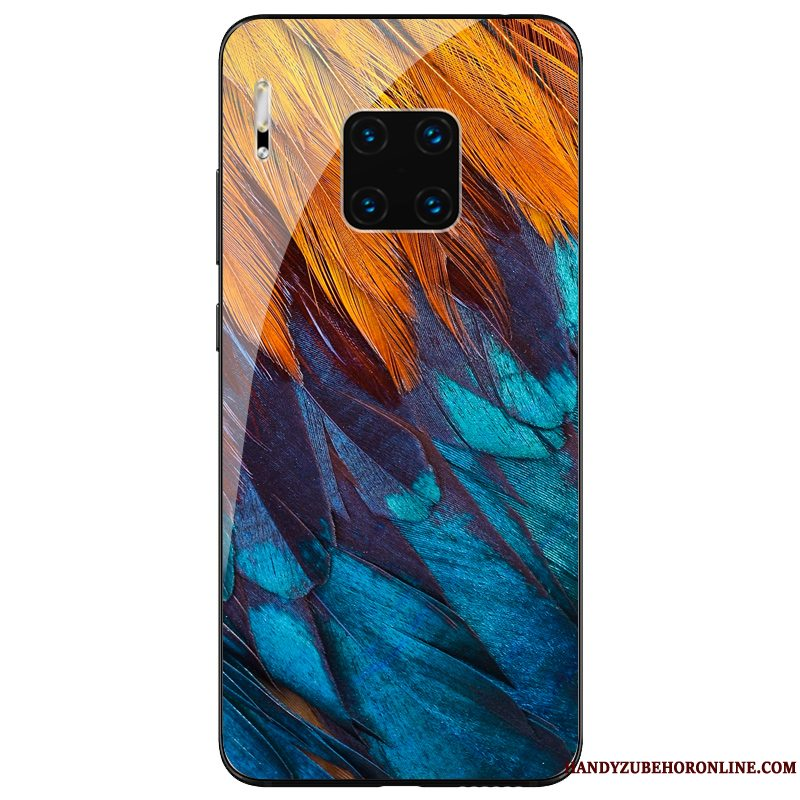 Etui Huawei Mate 30 Rs Tasker Af Personlighed Anti-fald, Cover Huawei Mate 30 Rs Silikone Glas Blå