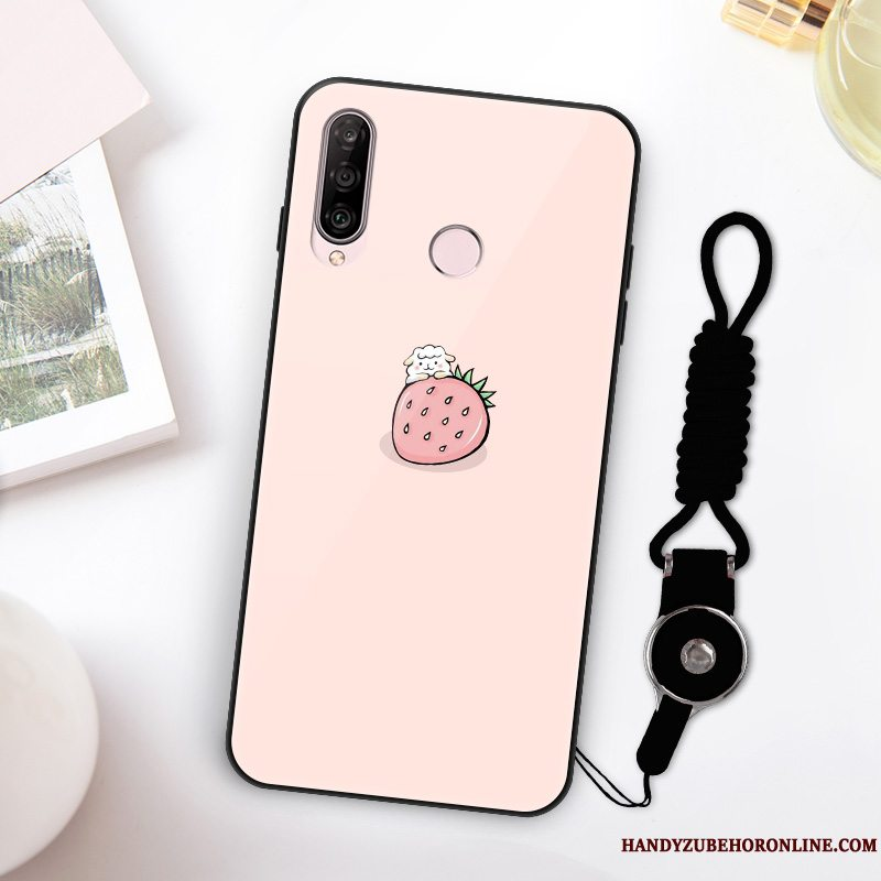 Etui Huawei P30 Lite Tasker High End Frisk, Cover Huawei P30 Lite Silikone Net Red Smuk