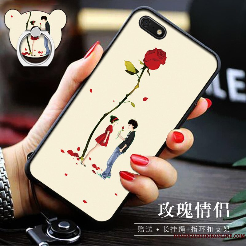 Etui Huawei Y5 2018 Blød Telefongul, Cover Huawei Y5 2018 Support Af Personlighed Trend