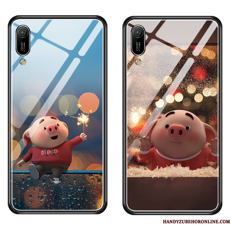 Etui Huawei Y6 2019 Cartoon Telefonanti-fald, Cover Huawei Y6 2019 Tasker Net Red Lille Sektion