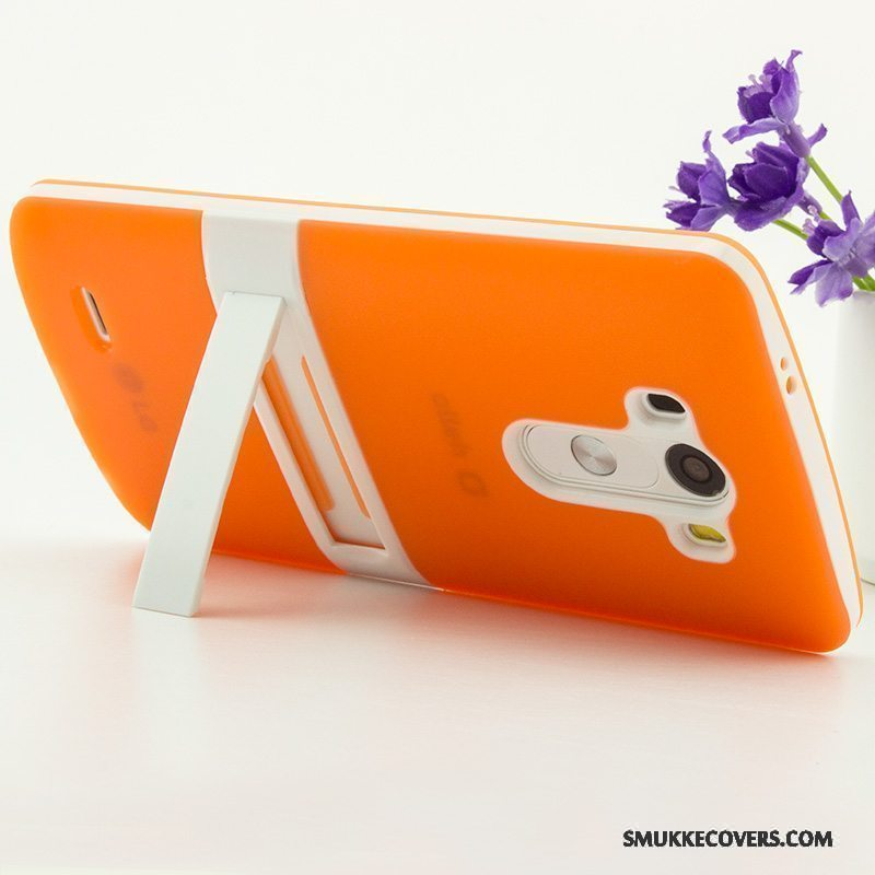 Etui Lg G3 Support Telefontrend, Cover Lg G3 Beskyttelse Tynd Orange