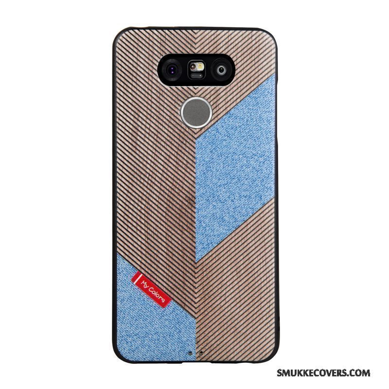 Etui Lg G6 Relief Telefontrend, Cover Lg G6 Cartoon Blå Business