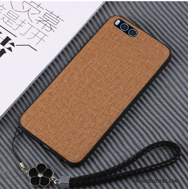 Etui Mi Note 3 Tasker Lille Sektion Simple, Cover Mi Note 3 Læder Anti-fald Telefon