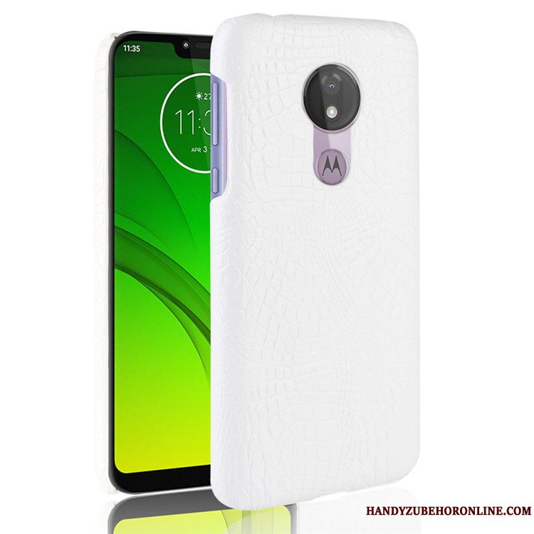 Etui Moto G7 Power Kreativ Business Telefon, Cover Moto G7 Power Hvid
