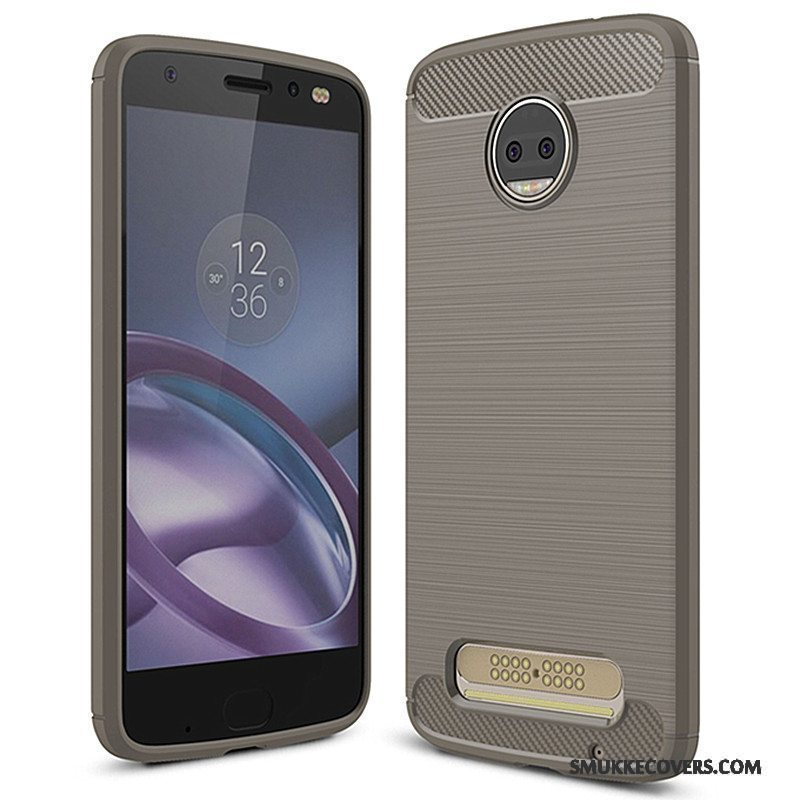 Etui Moto Z2 Force Edition Beskyttelse Telefongrå, Cover Moto Z2 Force Edition Blød
