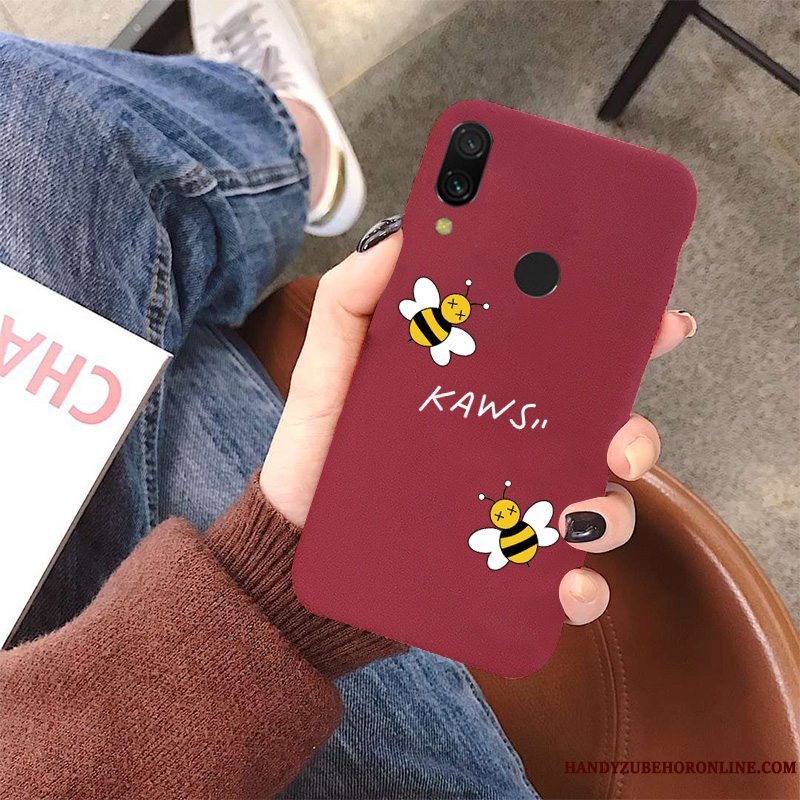 Etui Redmi Note 7 Tasker Smuk Elskeren, Cover Redmi Note 7 Cartoon Nubuck Lille Sektion
