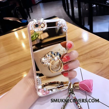 Etui Samsung Galaxy A3 2016 Luksus Spejl Trend, Cover Samsung Galaxy A3 2016 Beskyttelse Blomster Telefon