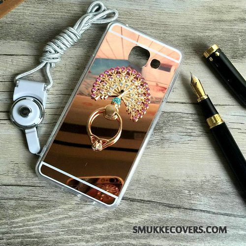 Etui Samsung Galaxy A5 2016 Silikone Ring Hængende Ornamenter, Cover Samsung Galaxy A5 2016 Support Guld Trend