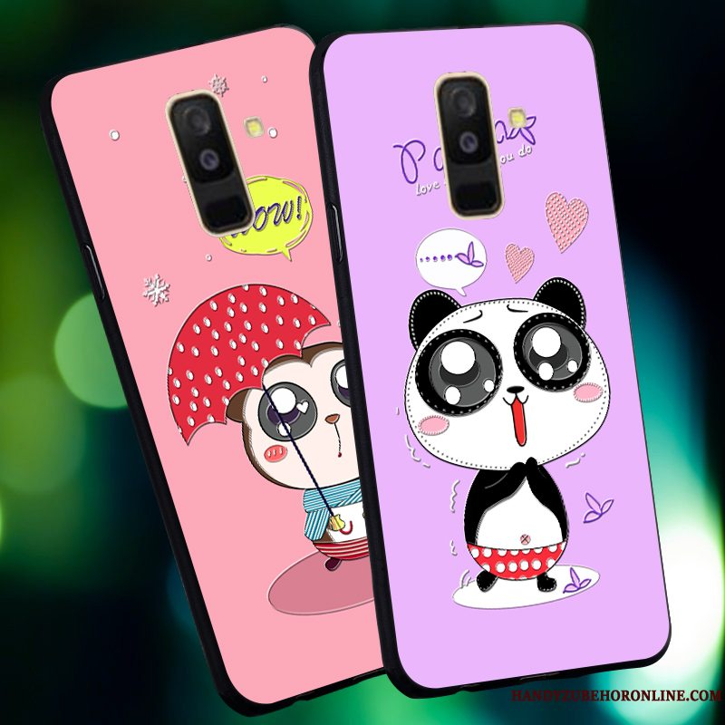 Etui Samsung Galaxy A6 Cartoon Anti-fald Nubuck, Cover Samsung Galaxy A6 Beskyttelse Telefonny