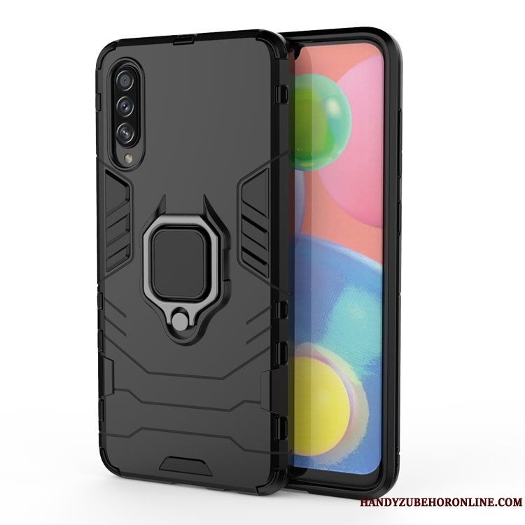 Etui Samsung Galaxy A70s Blød Ring Simple, Cover Samsung Galaxy A70s Beskyttelse Sort Magnetisk