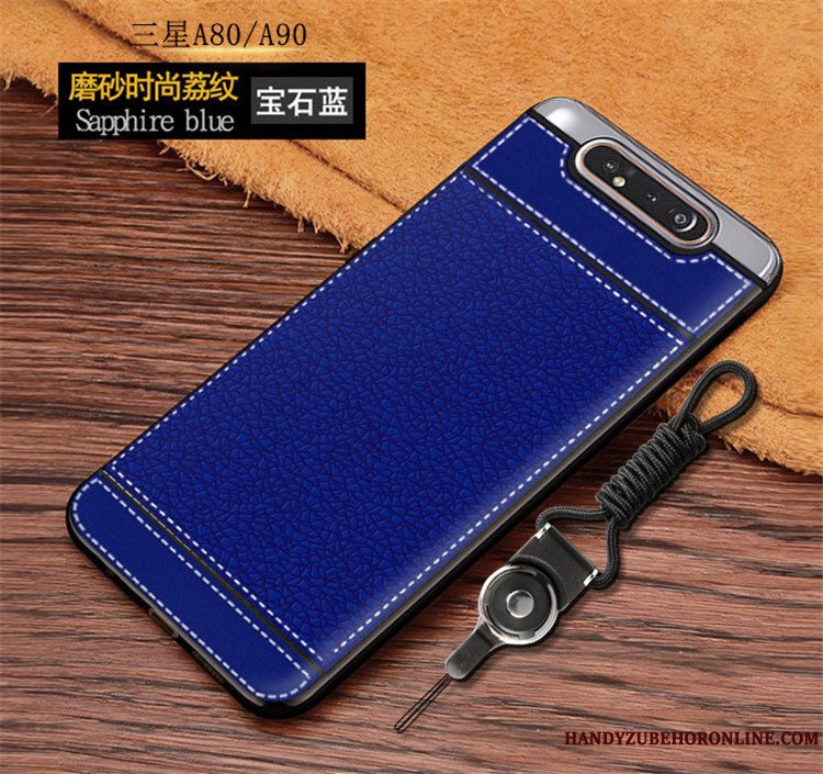 Etui Samsung Galaxy A80 Blød Simple Anti-fald, Cover Samsung Galaxy A80 Tasker Telefonnubuck