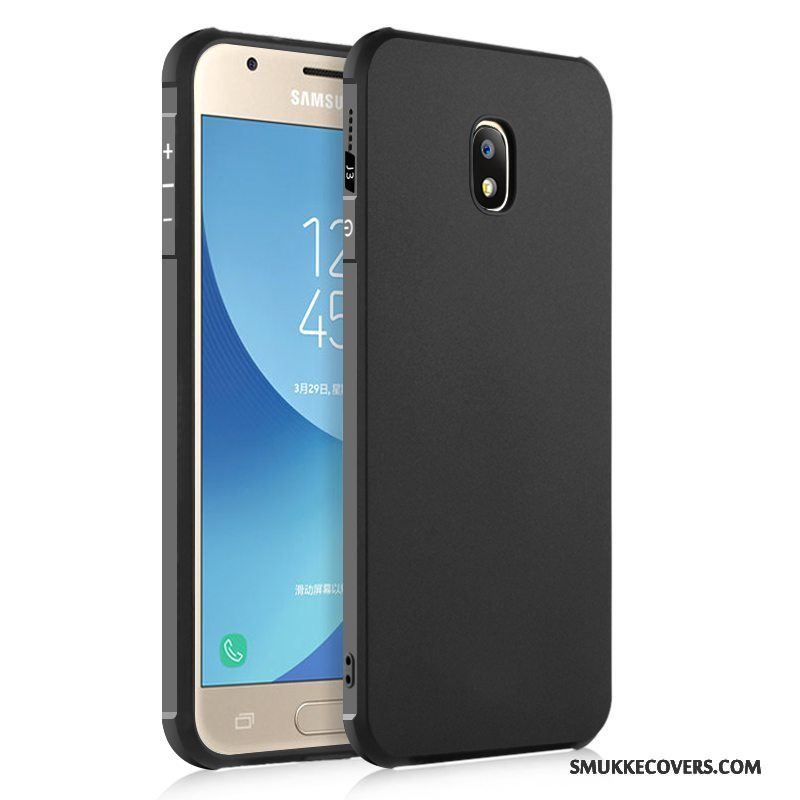 Etui Samsung Galaxy J3 2017 Silikone Anti-fald Telefon, Cover Samsung Galaxy J3 2017 Beskyttelse Sort