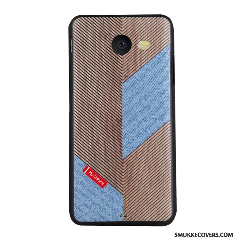 Etui Samsung Galaxy J5 2017 Blød Trend Telefon, Cover Samsung Galaxy J5 2017 Cartoon Blå Business