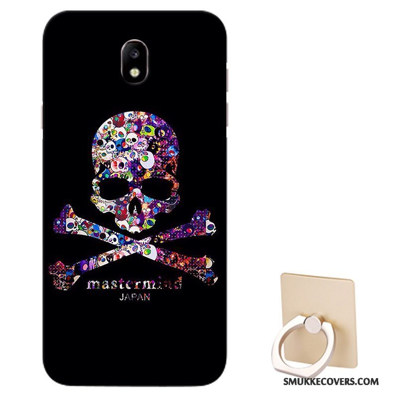 Etui Samsung Galaxy J5 2017 Support Sort Mønster, Cover Samsung Galaxy J5 2017 Beskyttelse Tilpas Europa